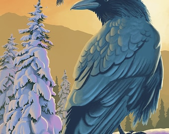 Ravens - Alaska (Art Prints available in multiple sizes)
