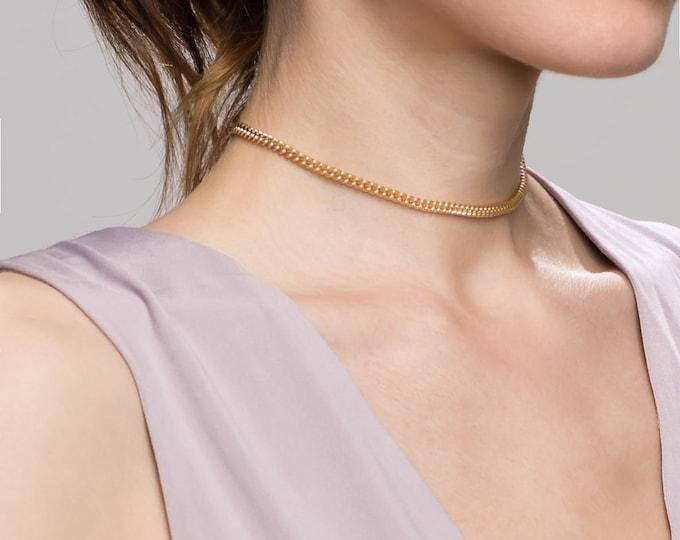 Chunky Chain Choker // Trendy Bohemian Choker Necklace //EC4