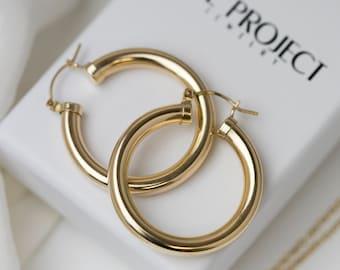 eb3a27c4202 Gold Chunky Hoops   Chunky Hoop Earrings   Bold Hoop Earrings    Gold  filled Hoop Earrings    Everyday Earrings    Gifts for her