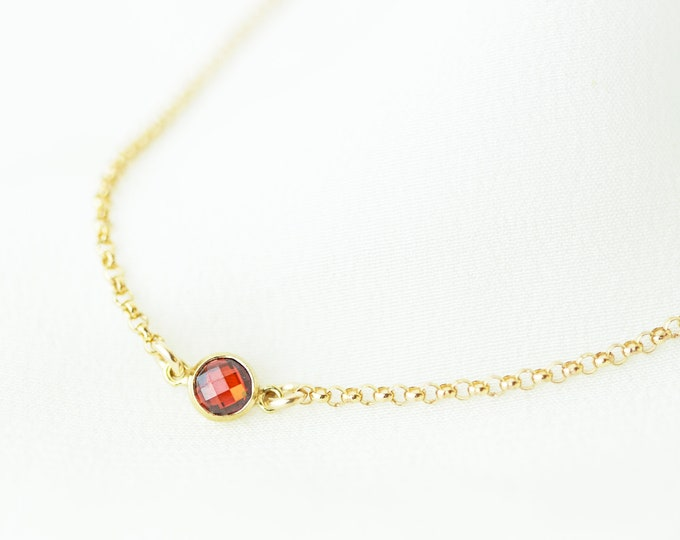 July's Birthstone Ruby Bracelet // Layering Bracelet // Dainty Bracelet // Bracelet Gift for Her Gold bracelet with ruby cz July baby