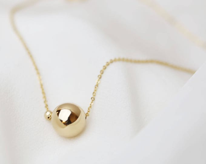 Dainty Necklaces / Mommy & Me Necklace in Gold filled and Silver / Simple Statement ball necklaces / Dot necklace bridesmaid gift