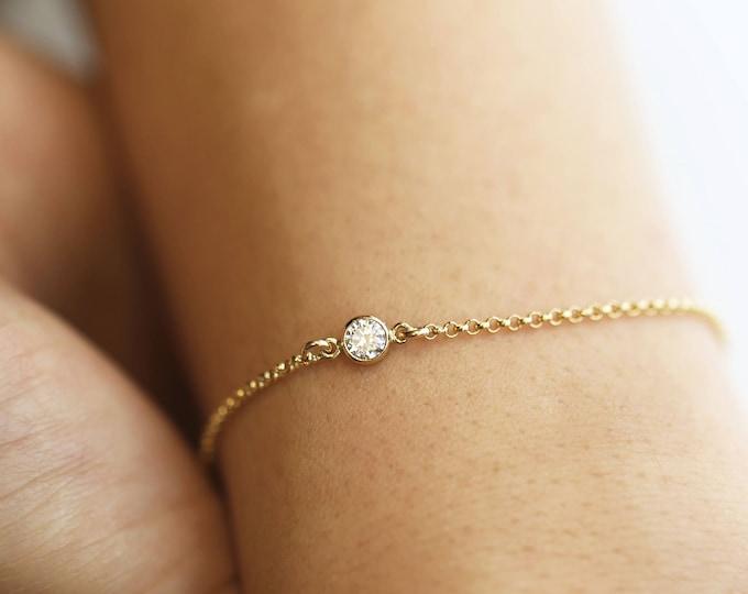 CZ Diamond Bracelet // Layering Bracelet // Dainty Bracelet // Bracelet Gift for Her   EB037
