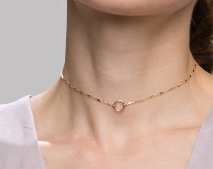 Halo Choker // Bohemian Hobo Choker Necklace // festival look chain chokers // dainty chain choker necklace // fashion jewelry // gift  EC10