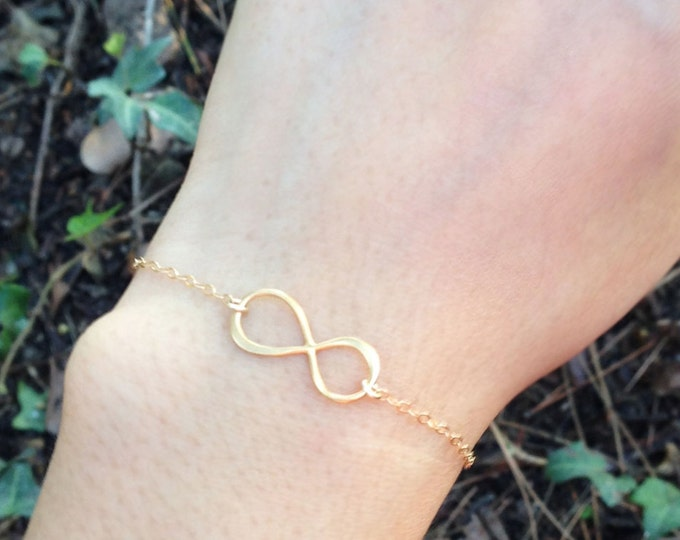 Infinity bracelet - 14K gold filled and sterling silver infinity bracelets // infinity friendship bracelets gifts for her  EB005