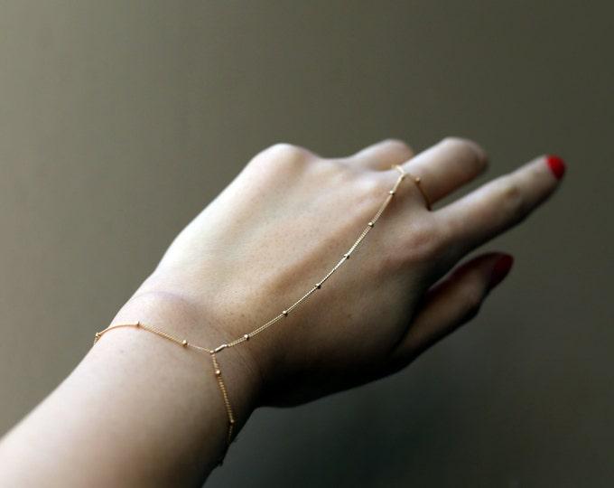 Slave Bracelet - Satellite Hand Chain Bracelets in 14K Gold filled and Sterling silver EB016