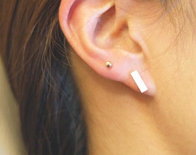 Sterling silver Flat bar earrings  EE004