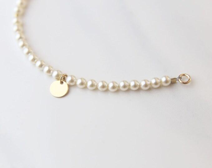 Personalized Pearl Bracelet // Bridesmaid gift / Friendship Bracelet