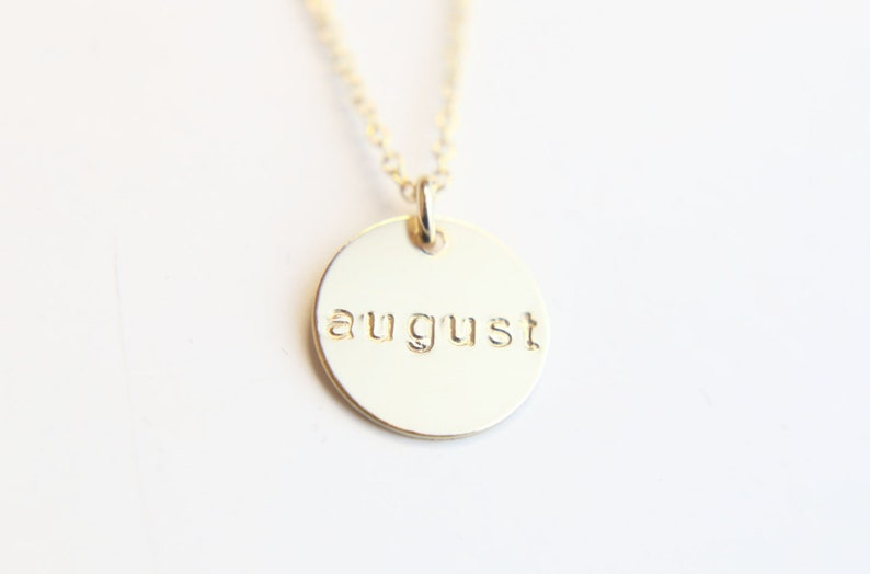 076febf84654 Personalized Name Disc necklace Personalized Round Coin disk