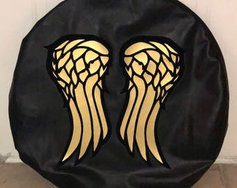 Daryl Dixon Wings The Walking Dead Themed Tire Cover