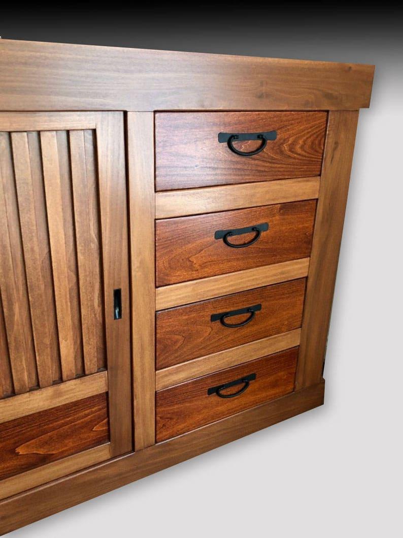 Japanese Furniture Kitchen Cabinet Tansu Buffet Etsy