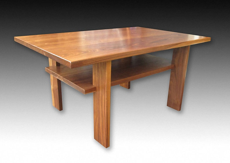 Japanese Coffee Table.Japanese Style Walnut Coffee Table