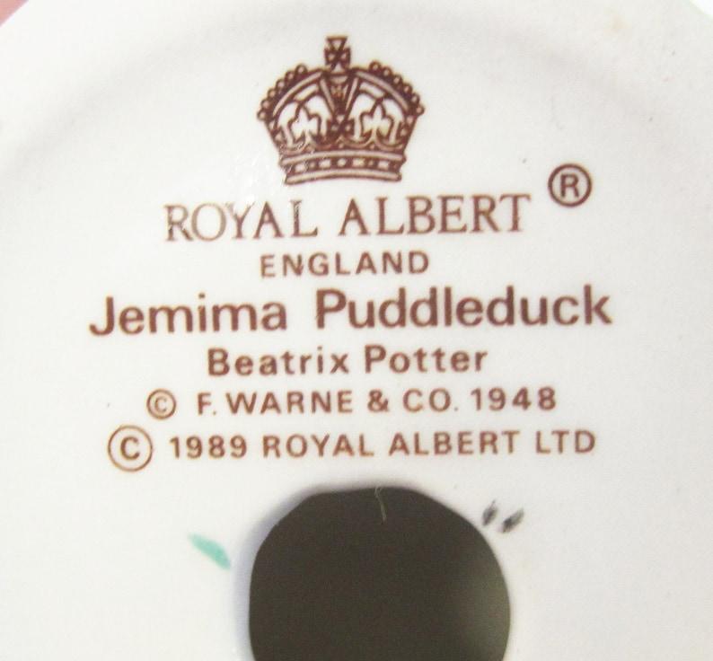 Royal Albert Jemima Puddleduck Figurine Hand Painted Beatrix Potter Jemima Puddleduck Figurine