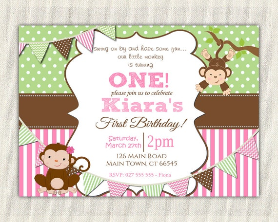 "American Greetings /""Monkey/"" Come to a Party Birthday Invitation Cards,10 ct"