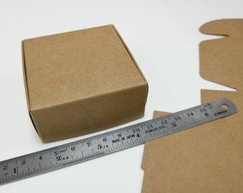 "10pcs Kraft Paper Box (2.75 x 2.75 x 1.25"") - Brown Paper Box - Gift Box - Wedding Favor Box - Jewelry Box - Handcrafts Packaging 004"