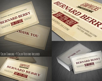 Retro business cards etsy retro business card template 03 friedricerecipe Image collections