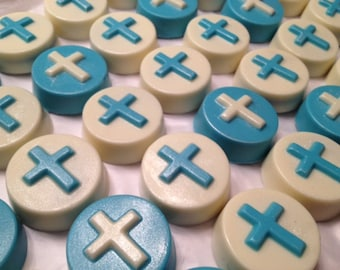 Chocolate Covered Double Stuffed Oreos with Cross (1 Dozen) - Baptism, Christening, Communion, Confirmation, Religous