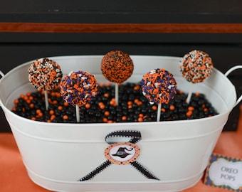 Halloween Chocolate Covered Double Stuffed Oreo Pops(1 dozen) - Halloween