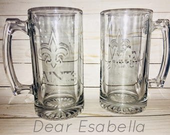 etched beer mugs etsy