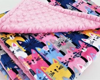 Small Size Lavender Swirl Minky Personalized Pet Blanket