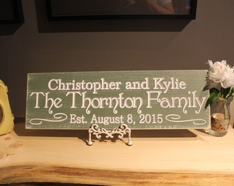 Carved Last name sign Family Welcome sign Personalized Family Name Sign Plaque Wall Sign Carved Engraved Custom sign guestbook sign