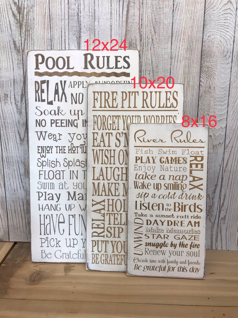 Fire Pit Rules Sign Campfire Sign Backyard decor Patio | Etsy