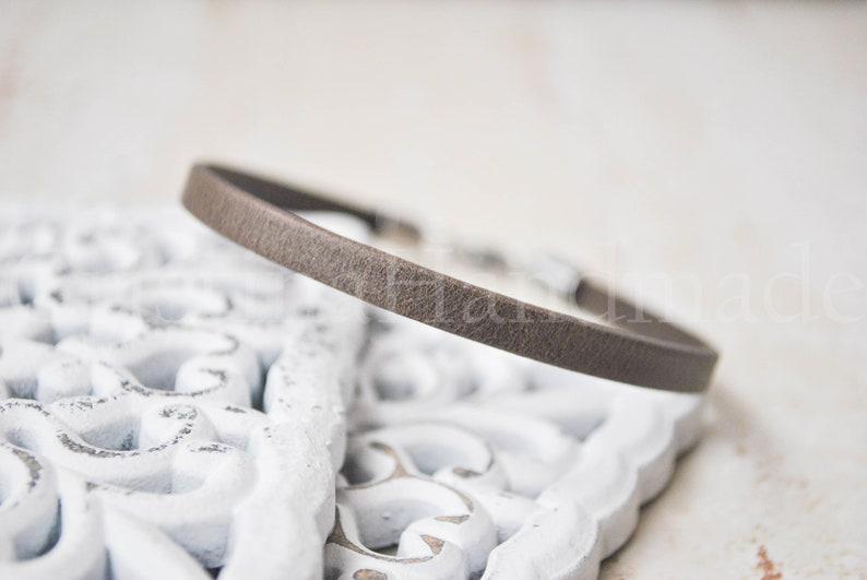 unisex simple leather wristband pulsera cuero minimalist leather bracelet Matte brown Simple leather unisex bracelet