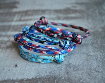 Set of 4 simple paracord bracelets | simple paracord bracelet | simple knot bracelet | mens minimalist bracelet | pulsera hombre | armband