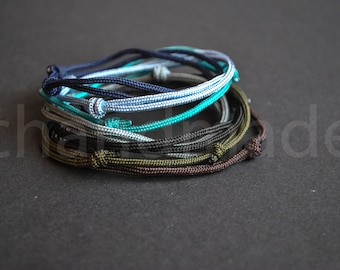 Set of 7 simple paracord bracelets | simple paracord bracelet | simple knot bracelet | mens minimalist bracelet | pulsera hombre | armband