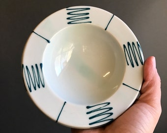 Vintage Handmade Ceramic Ring Dish