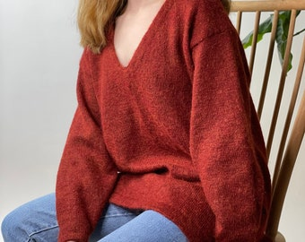 Vintage 1980/'s Gary Reed/'s Adam Sloane Mohair Pull Over Sweater Diamonds