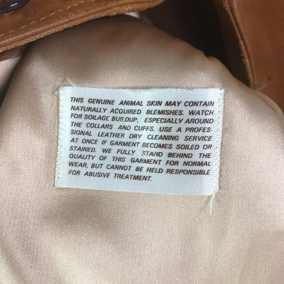 Vintage 70's Silton Cognac Brown Buttery Leather … - image 8