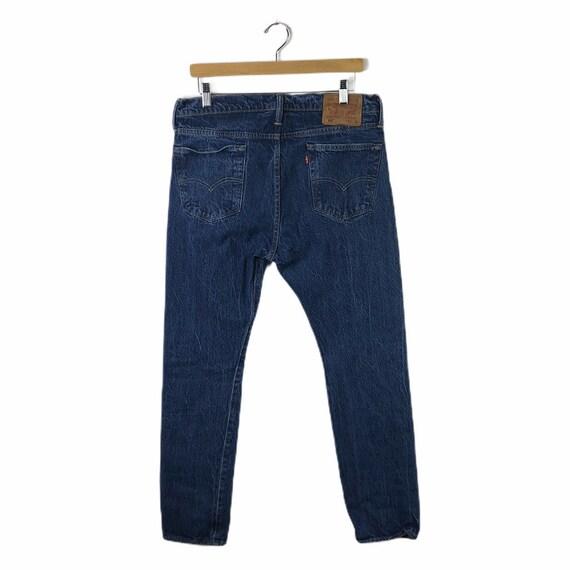 Vintage Levis 510 Darkwash High Waisted Jeans, Si… - image 2
