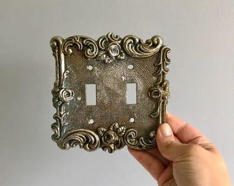 Vintage Metal Light Switch Plate