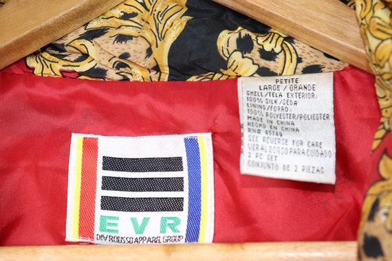 Vintage 90's EVR Silk Red Chains Tassle Bomber Ja… - image 4