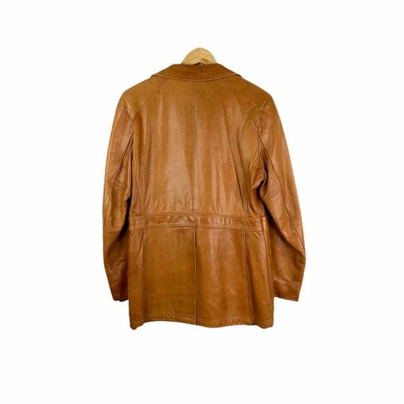 Vintage 70's Silton Cognac Brown Buttery Leather … - image 2