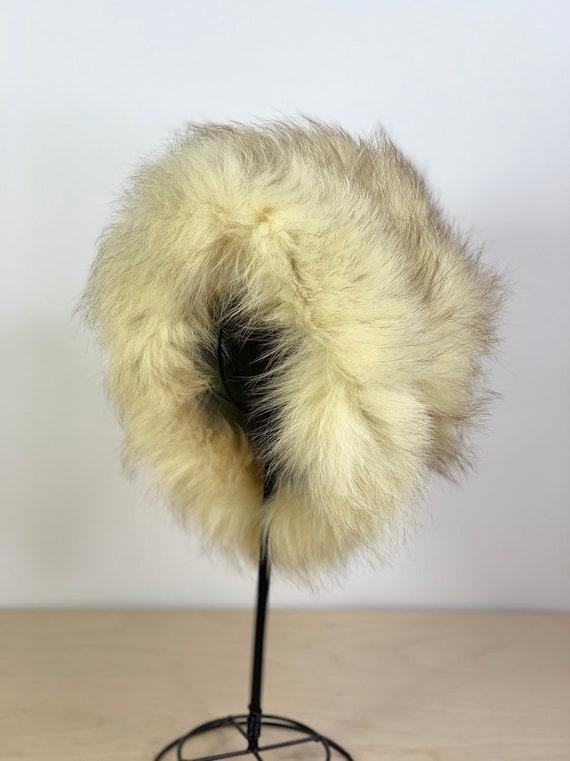 Vintage 60's Russian style faux fur hat - image 3