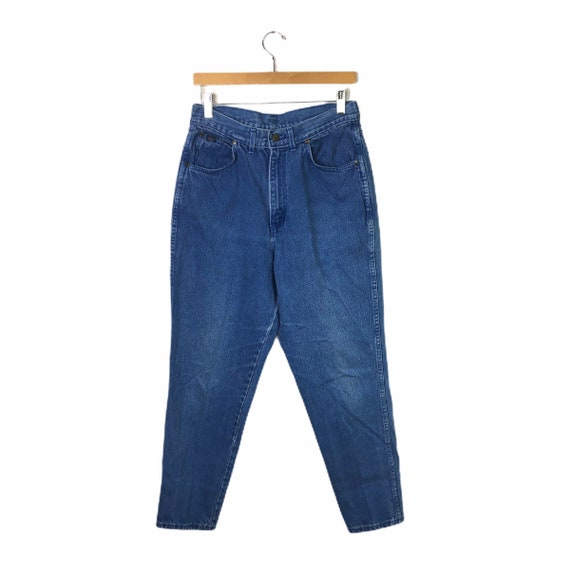 Vintage 90's Chic Pleated Mom Jeans, Size 14