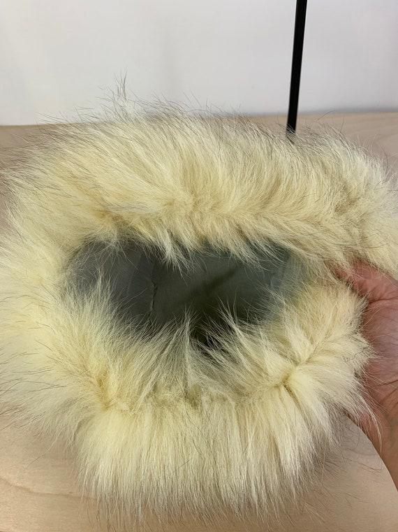 Vintage 60's Russian style faux fur hat - image 4