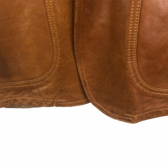 Vintage 70's Silton Cognac Brown Buttery Leather … - image 5