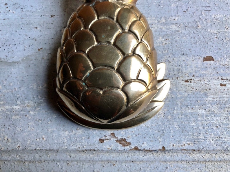 Vintage Solid Brass Pineapple Door Knocker
