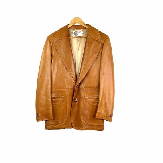 Vintage 70's Silton Cognac Brown Buttery Leather B