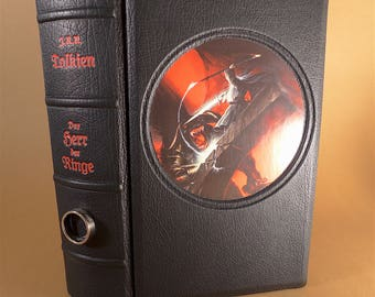 The Lord of the Rings-J.R.R. Tolkien-Leather cover-Balrog-Gandalf-unique-in leather bound