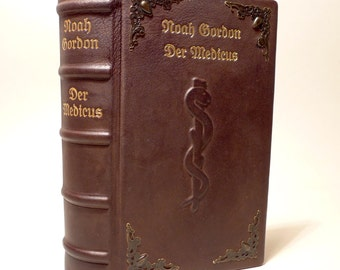The Medicus Noah Gordon leather binding unique in leather bound Anna book miracles