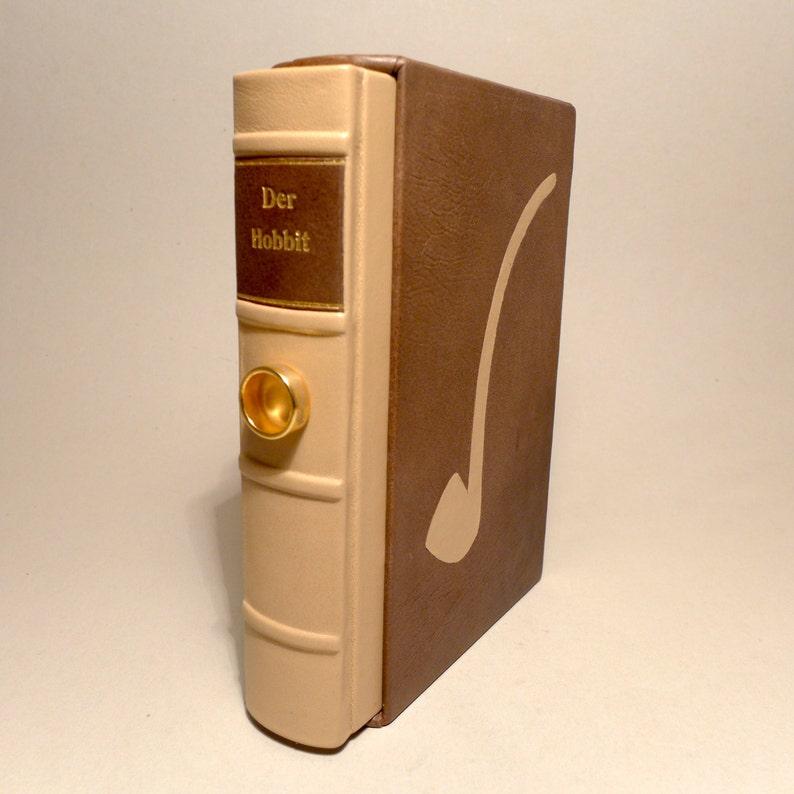 The Hobbit J.R.R. Tolkien Book Fantasy Leather Cover UNIKAT image 1