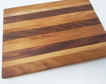 "13x17"" Wood Cutting Board - Maple, Jabota, Cherry, Cheese Board, Charcuterie Board, Rustic, Farmhouse, Handmade, Decorative, Natural, Grain"