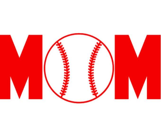 "FREE SHIPPING //  7.2x3"" Baseball Mom Sport Vinyl Decal"