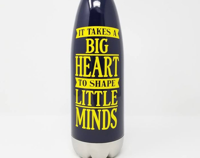 Stainless Steel Water Bottle - Teacher - Appreciation - Educator - School - Gift Custom - Personalized -17oz Double Wall Vacuum Insulated -