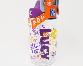 Personalized .4L Kid's Daisy CamelBak® Bottle - Water Bottle, Hydrate, Bite Valve, Student, Toddler, Flowers, Back To School, Daisies, Cute