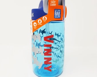 Personalized .4L Kid's Hammerhead CamelBak® Bottle - Water Bottle - Hydrate, Custom, Bite Valve, Toddler, Sharks, Sea, Whale, Reef, Tiger