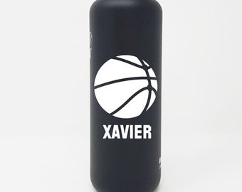 Personalized, Authentic 27oz Authentic Klean Kanteen® Stainless Steel Bottle, Sport Cap, Name, Basketball, Reusable, Water Bottle, Team